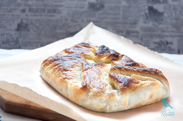 Spinach and feta baked in puff pastry. #vege