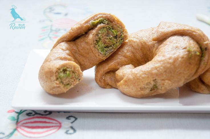 Sweet potato shāobāo stuffed with green peas and pumpkin seeds #vegan #fit #no dairy #no eggs