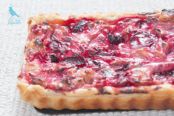 Swiss chard tart with vegan sheep cheese