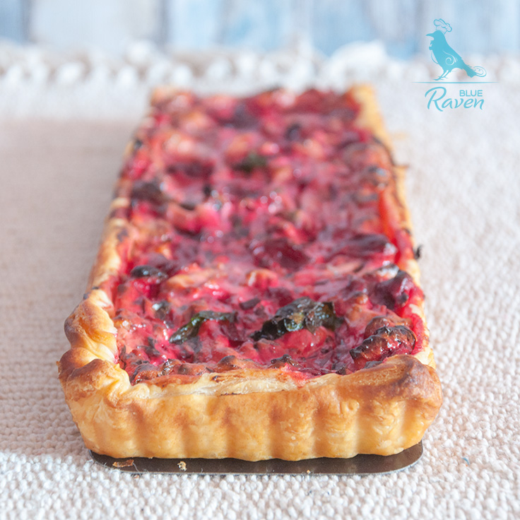 Swiss chard tart with sheep cheese