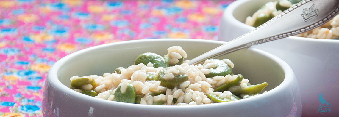 Risotto with broad beans. #vegan #gluten free