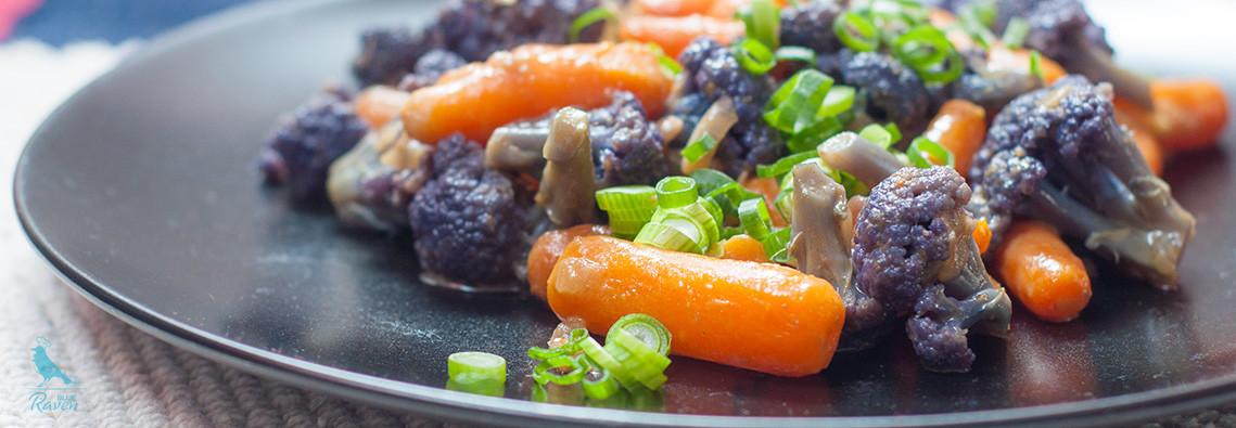 Purple cauliflower and mini carrots curry. #curry #vegan #glutenfree #purple cauliflower #carrot