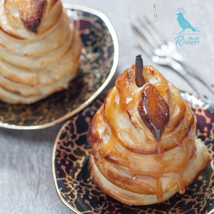 Pears in pastry #dessert