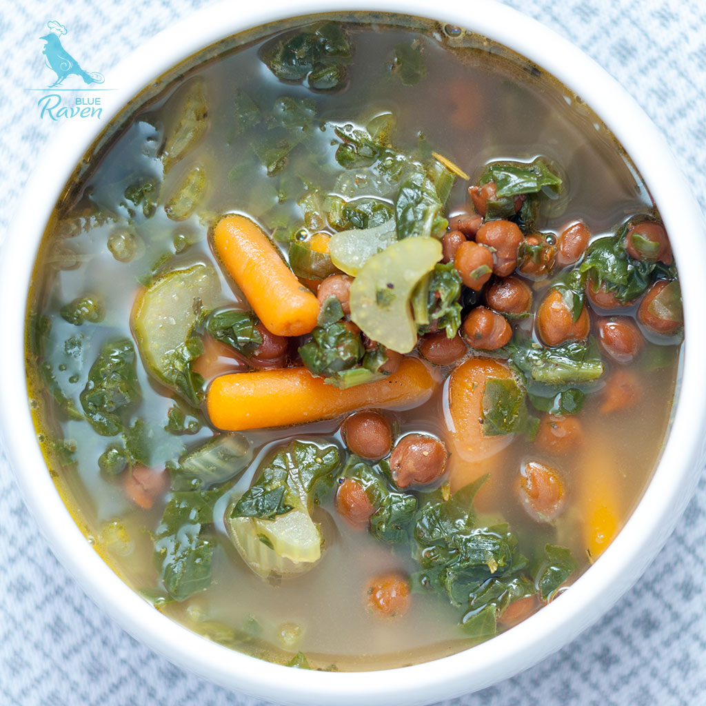 Healing soup with green tea and garlic #vegn #gluten free #aip