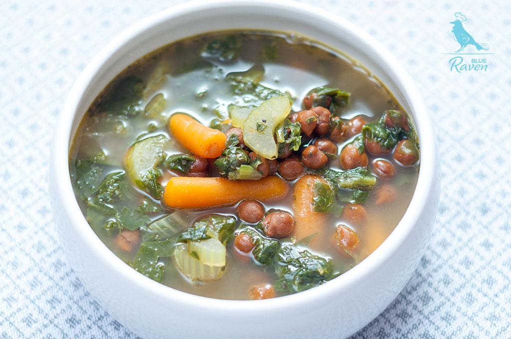Healing soup with green tea and garlic #vegan #gluten free #aip