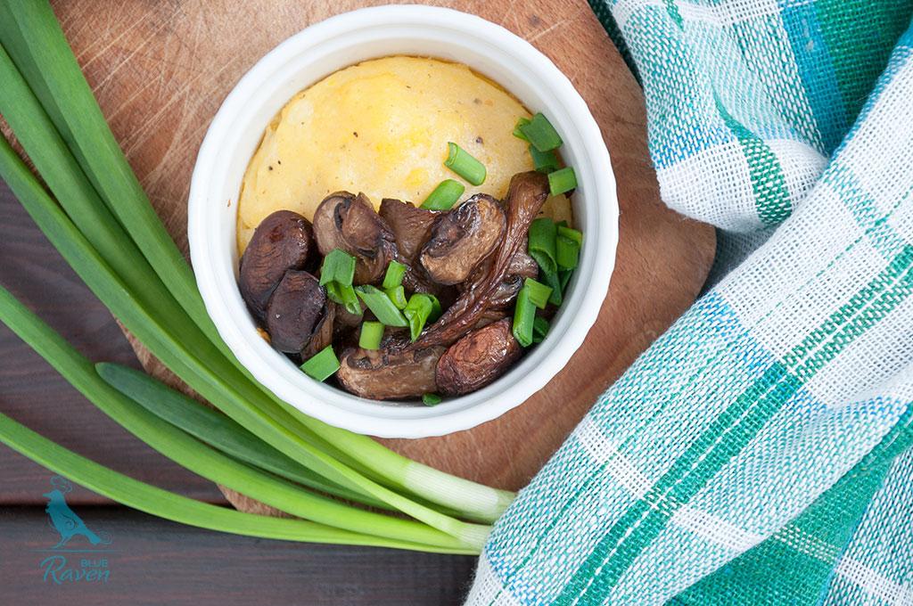 Polenta with mushrooms #vegan #gluten free #main dish
