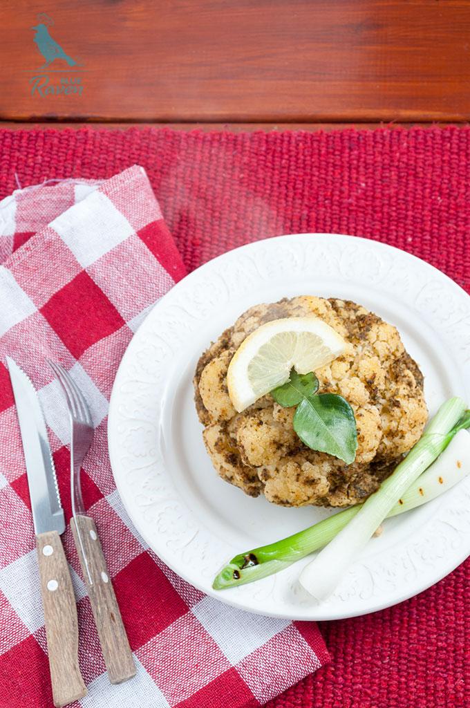 Baked cauliflower with pear marinade #vegan #gluten-free #no-salt