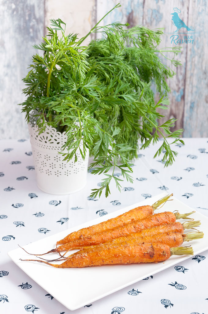 Young carrots baked with peanut butter #vegan #gluten-free #carrot #peanut_butter