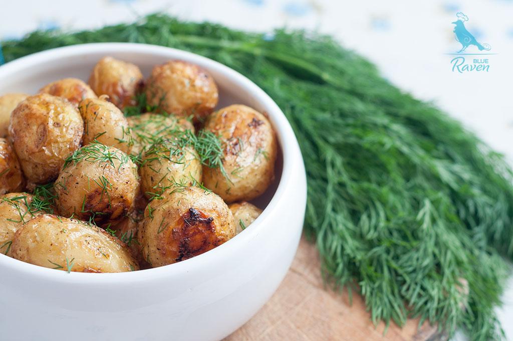Young baby potatoes wit yogurt marinade #vegan #lactose-free #dairy #gluten-free