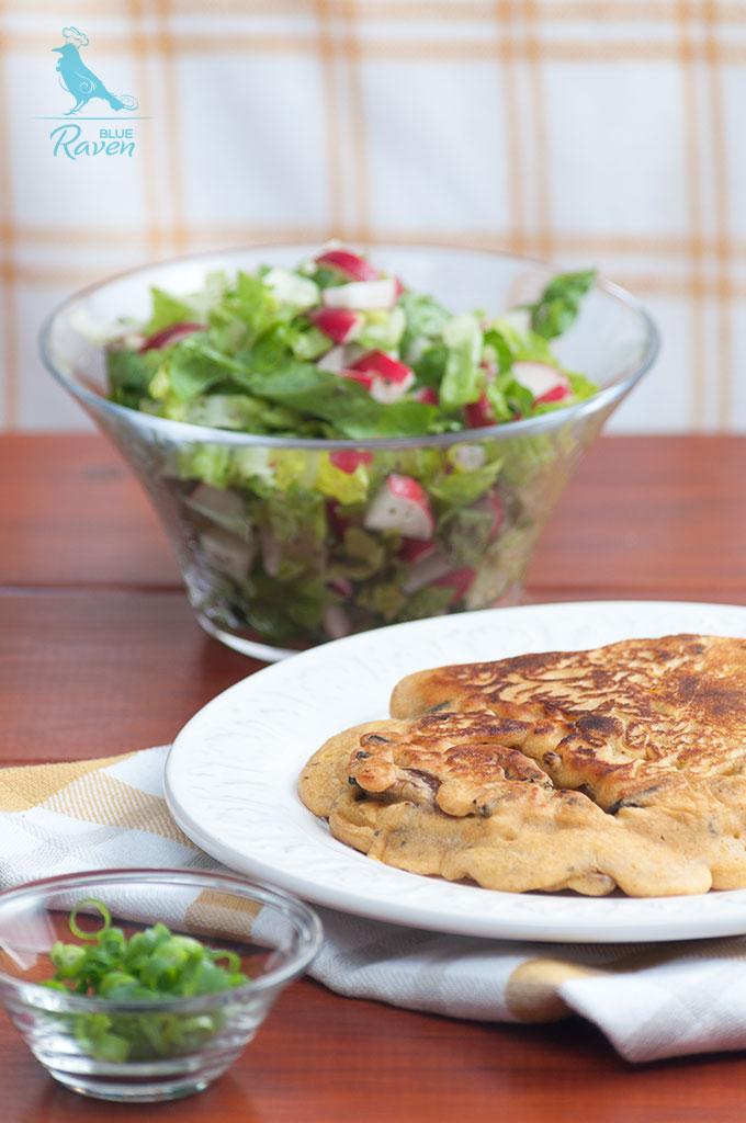 Besan omelette with chanterelles #vegan #chanterelles #omelette #chickpea