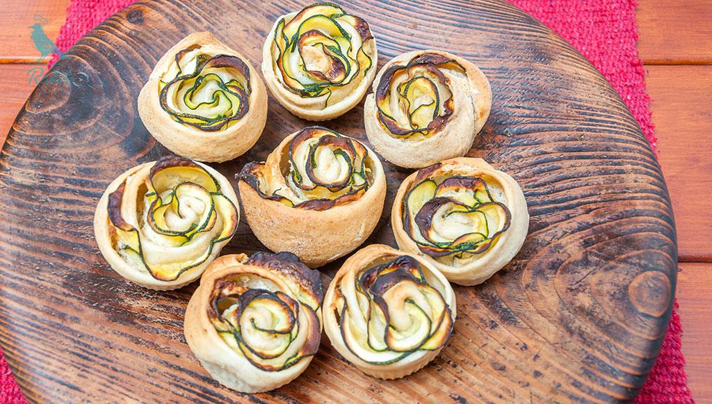 Zucchini roses #yeast #vegan #zucchini