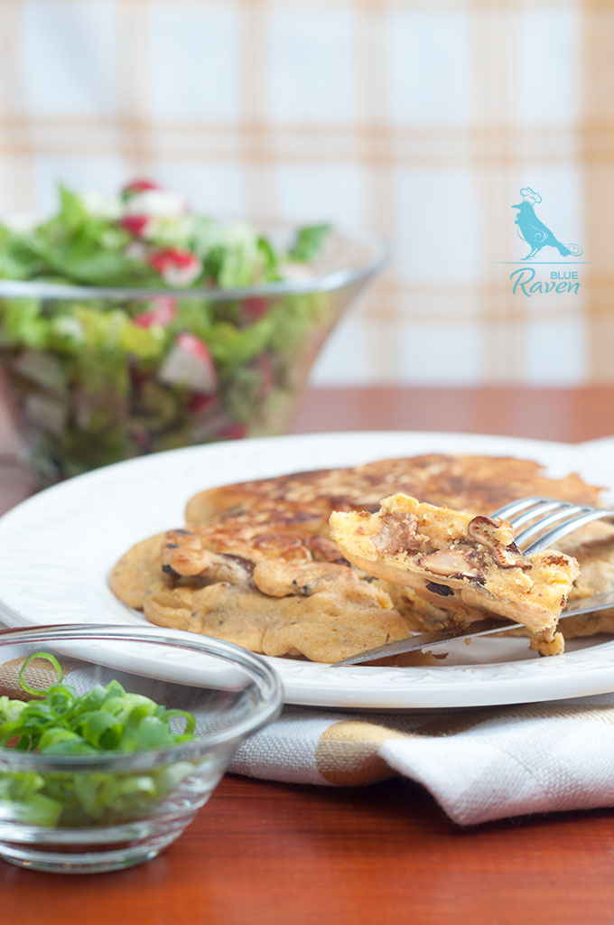 Besan omelette with chanterelles #vegan #chanterelles #omelette #chickpea