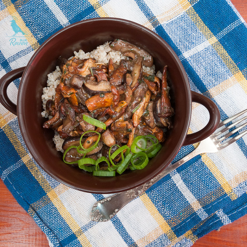 Wild mushrooms stew #vegan #gluten-free