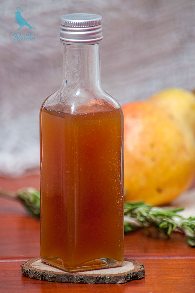 Pear and rosemary syrup