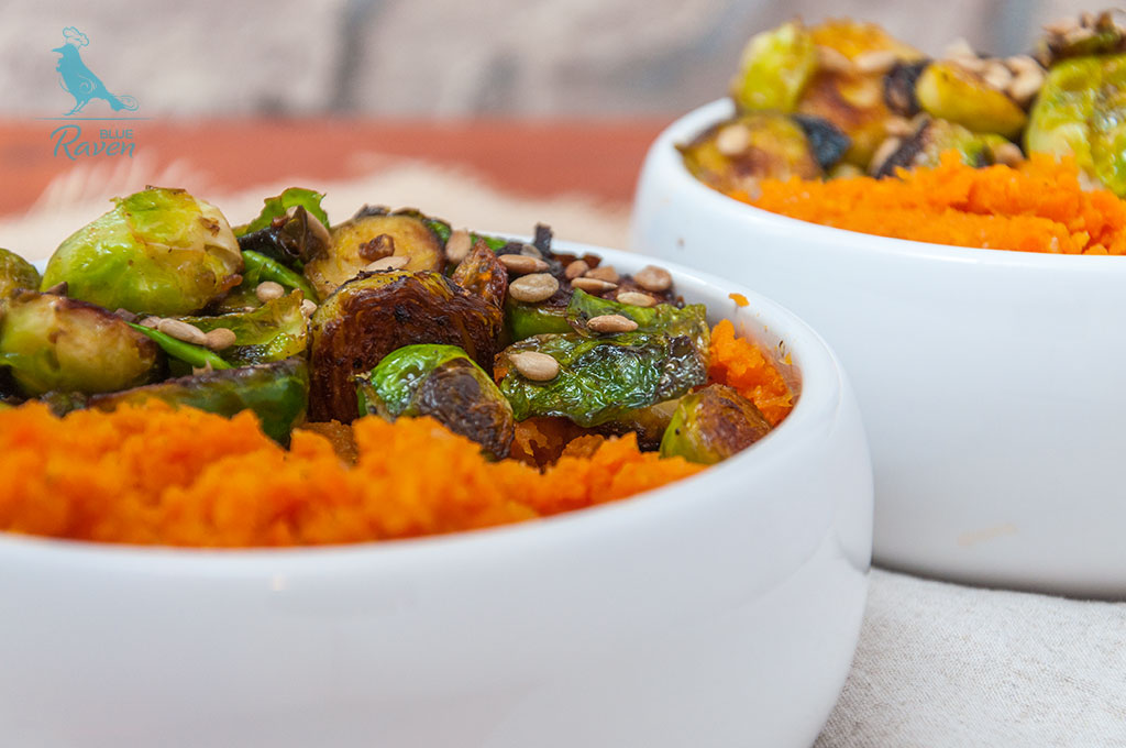 Carrots with ginger and Brussel sprouts with peanut butter #vegan #side-dish #glutenfree