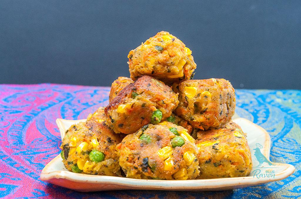 "Vegan ""meatballs"" #vegan #chickpeas #veggies"
