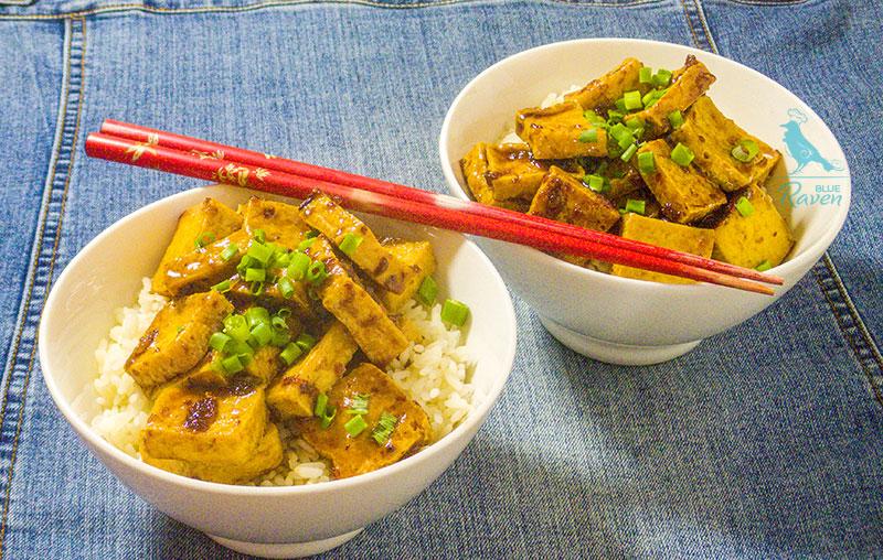 Tofu with pineapple glaze #vegan #tofu #pineapple