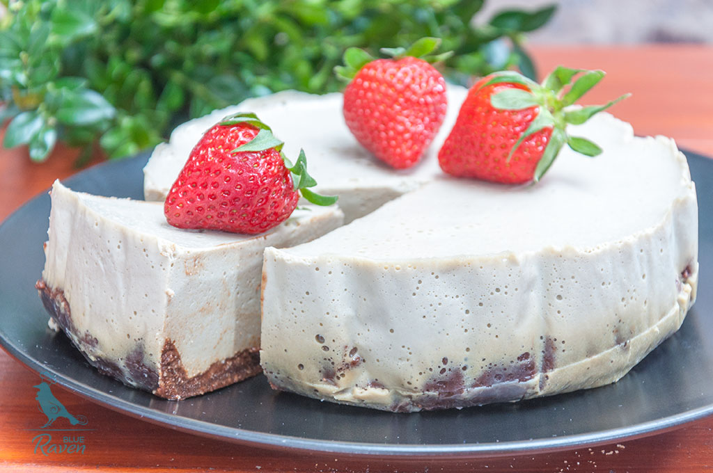 Tofu cheesecake with matcha #vegan #tofu #matcha #vegan-easter