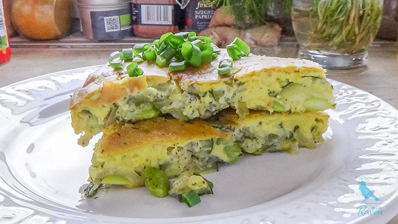 Tofu frittata with zucchini and edamame #vegan #frittata #zucchini